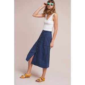 NWT Anthropologie Riverine Midi Skirt